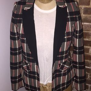 1.STATE red plaid blazer size 6
